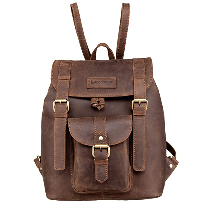 Woodpecker Top Quality Full Grain Real Cow Leather Men Women Backpack - Latest Design Casual and Formal Unisex Backpack