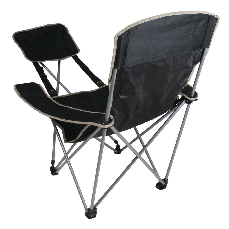 Generic Mobiler Camping-Stuhl mit Fußablage sehr handlich faltbar inkl. Tasche
