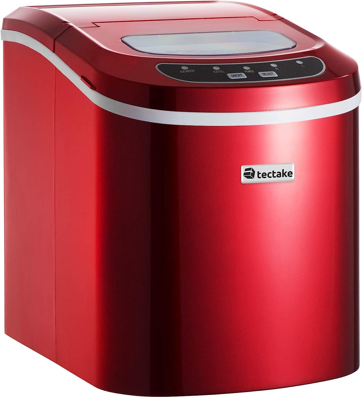 TecTake MÁQUINA DE CUBITOS DISPENSADOR DE CUBITOS PROFESIONAL - disponible en diferentes colores - (Rojo | No. 400475): Amazon.es: Grandes electrodomésticos