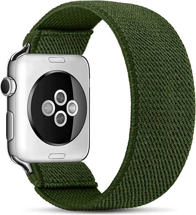 ZALAVER Elastic Band Compatible with Apple Watch 38mm 40mm 42mm 44mm, Fashion Handmade Pattern Stretchy Loop Replacement Wristband for iWatch Series 6/5/4/3/2/1, Women Men