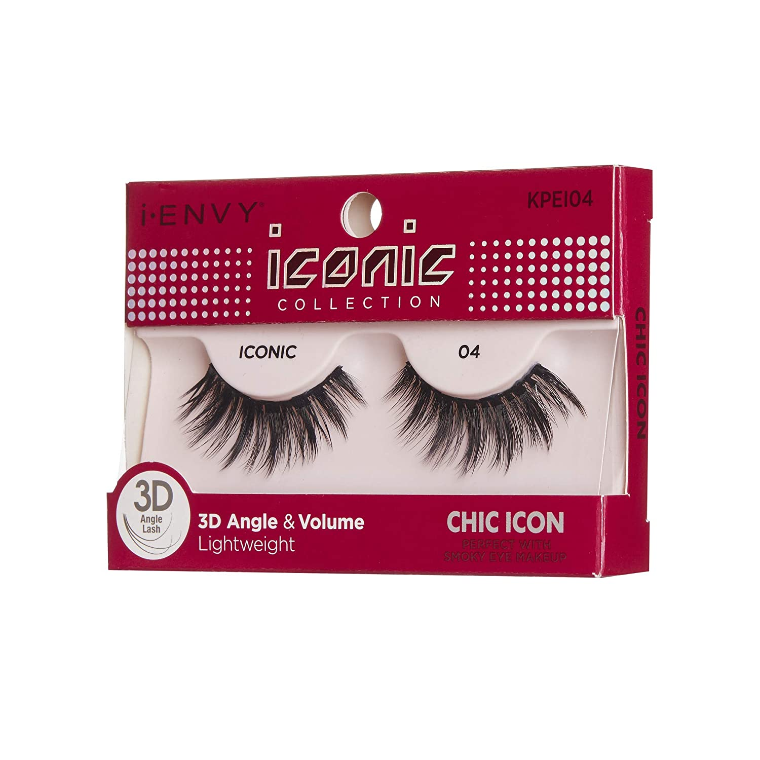 ec24c3f63e2 Amazon.com : i Envy by Kiss iconic 3D Angle & Volume Lashes CHIC ICON 04 :  Beauty