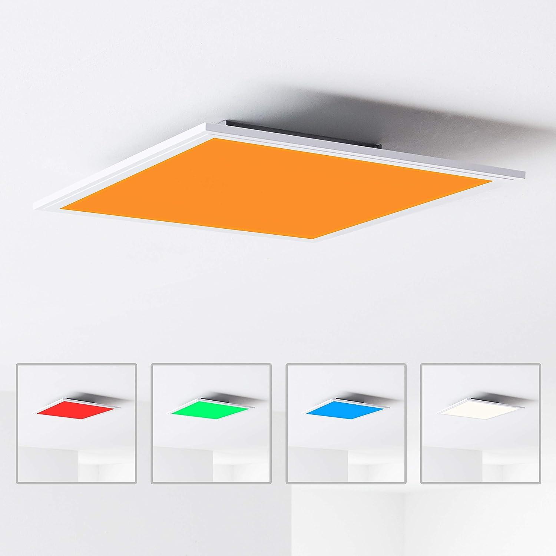 40 x 40 cm 2700 2400 lm metallo// plastica bianco Plafoniera a pannello LED 24 W 6500 K RGB cambia colore tramite telecomando