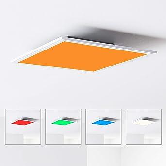 LED Panel Deckenleuchte 40x40cm, 1x 24W LED integriert, 1x