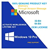 Windows 10 Professional ( win 10 pro) 32/64 Bits OEM Product Key - E-Mail delivery