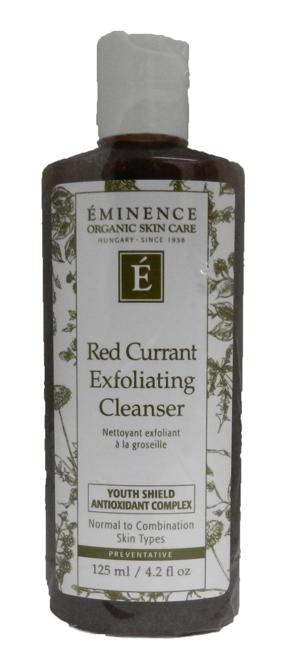 Eminence Organic Skincare Red currant exfoliating cleanser 4.2 oz, 4.2 Ounce