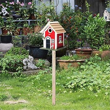 BOC Jardín natural Bird House English Courtyard Garden Cottages Bird House Alimentador de pájaros de madera vertical al aire libre para cabina de pájaros pequeña Birdhouse Decoración creativa Casa de: Amazon.es: Bricolaje