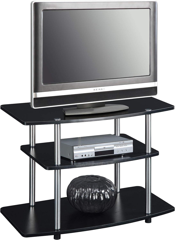 Convenience Concepts 131020 Designs2Go 3-Tier TV Stand, Black
