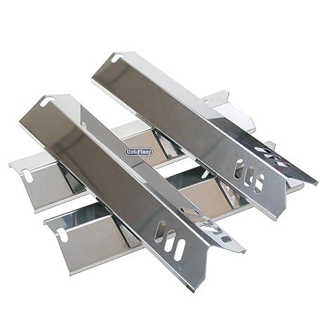 uniflasy (4-Pack) parrilla de acero inoxidable placa de ...