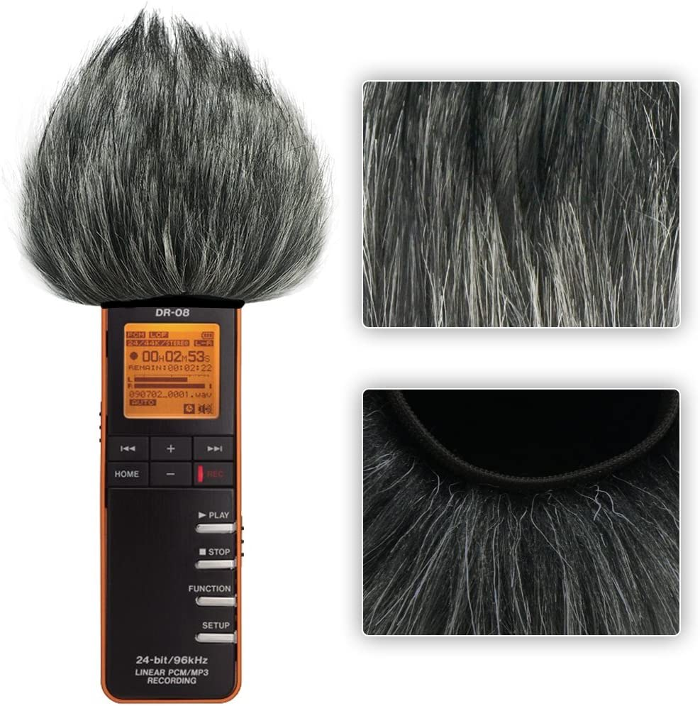 First2savvv TM-598-01 Outdoor Portable Digital Recorders Furry Microphone Mic Windscreen Wind Muff for Takstar SGC-598 Cleaning cloth