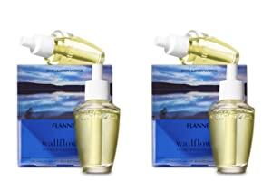 Bath and Body Works 4 Pack Flannel Wallflowers Fragrance Refill. 0.8 Oz.