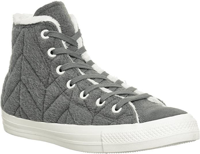 Converse Chucks (Chuck Taylor) All Star High Top Unisex Damen Herren Grau (Fur)