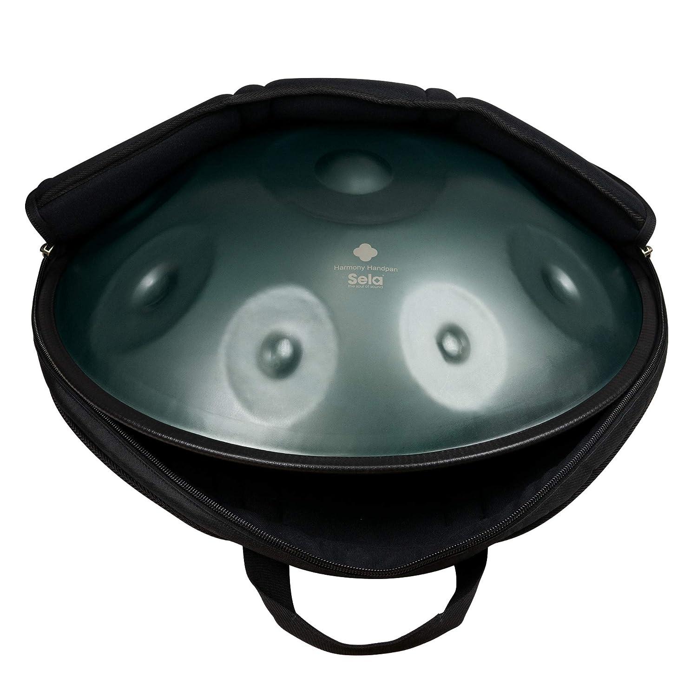 hecho a mano instrumento de percusi/ón de alta calidad tambor de acero Sela SE 181 Harmony Handpan D Amara incluye bolsa de nylon acolchada
