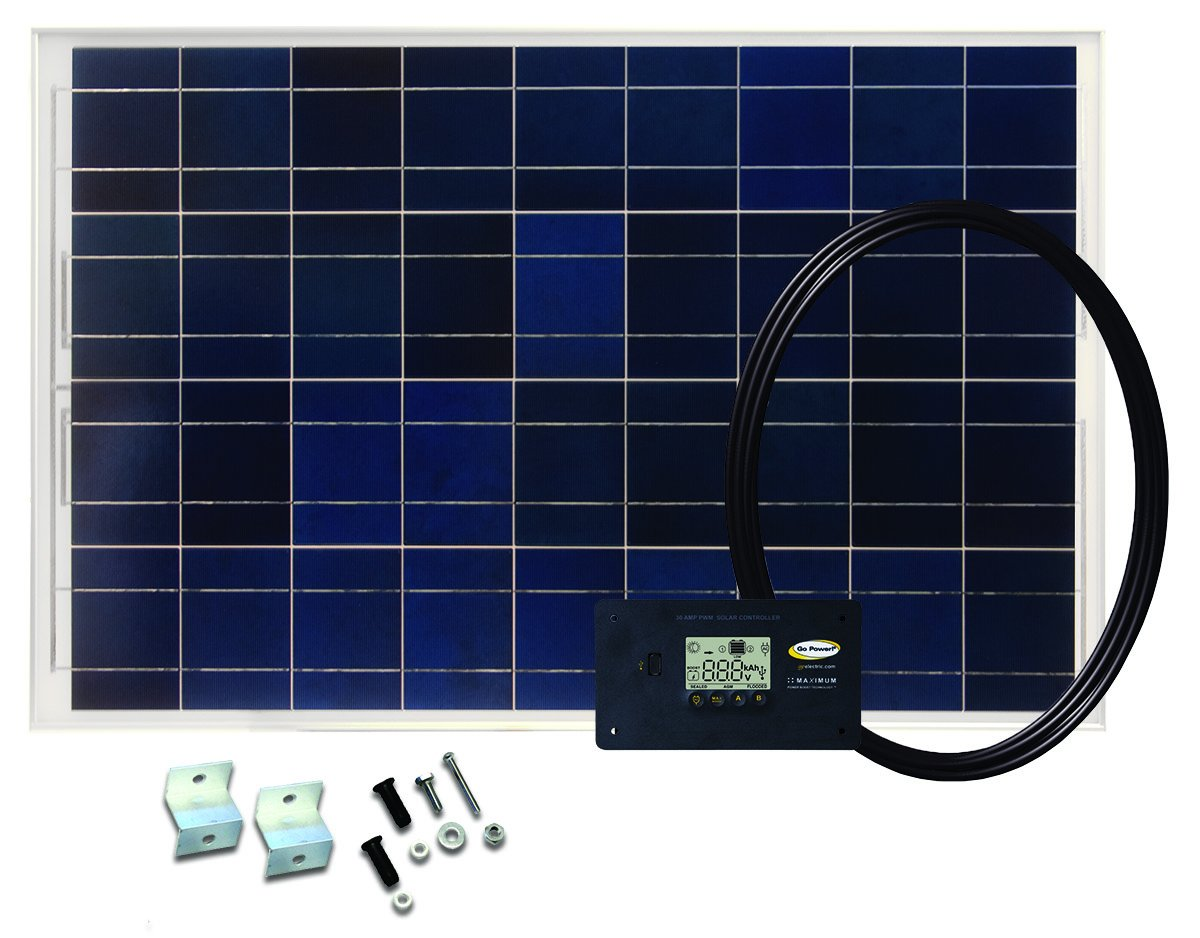 Go Power! GP-RV-80 80-Watt Solar Kit with 30 Amp Digital Regulator by Go Power!