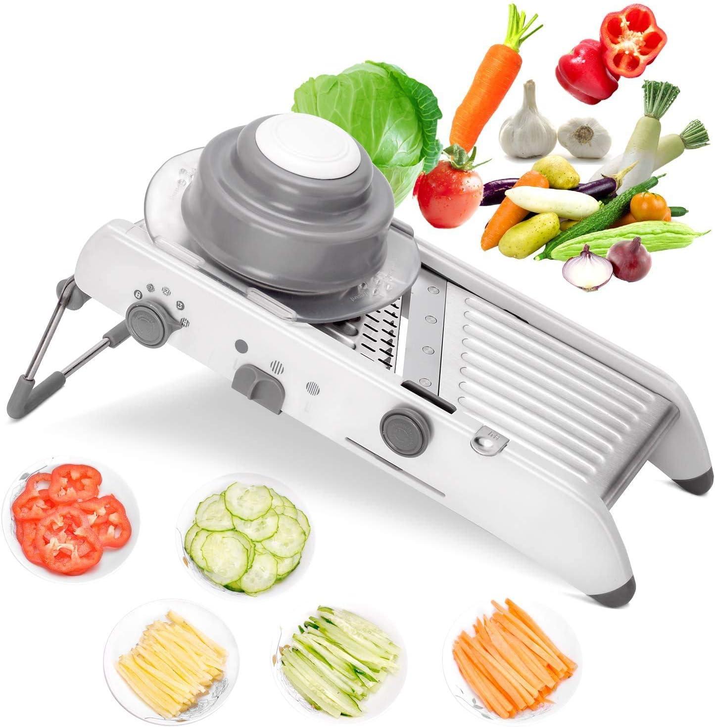 Manual Vegetable Slicer Potato Fruit Cutter Stainless Steel Mandoline Kitchen US