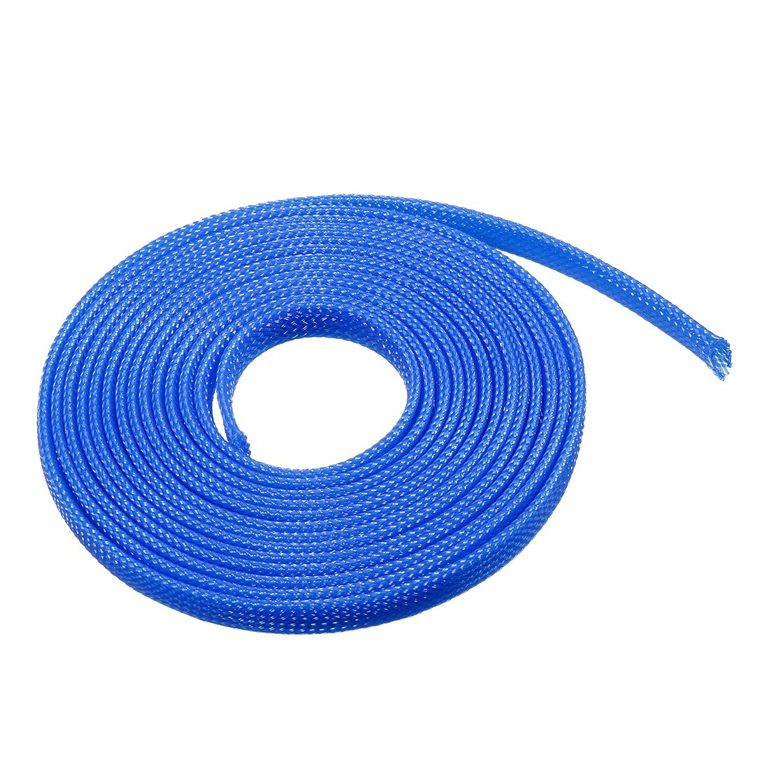 sourcing map 9.84ft 8mm Blue PET Expandable Braided Sleeving 3 Meter Cable Management Sleeve Cord Organizer for Wrap Protect Cables