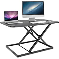 Standing Desk Converter, Ohuhu 31.3inch Height Adjustable Stand up Desk Converter Fully Assembled Gas Spring Riser Sit…