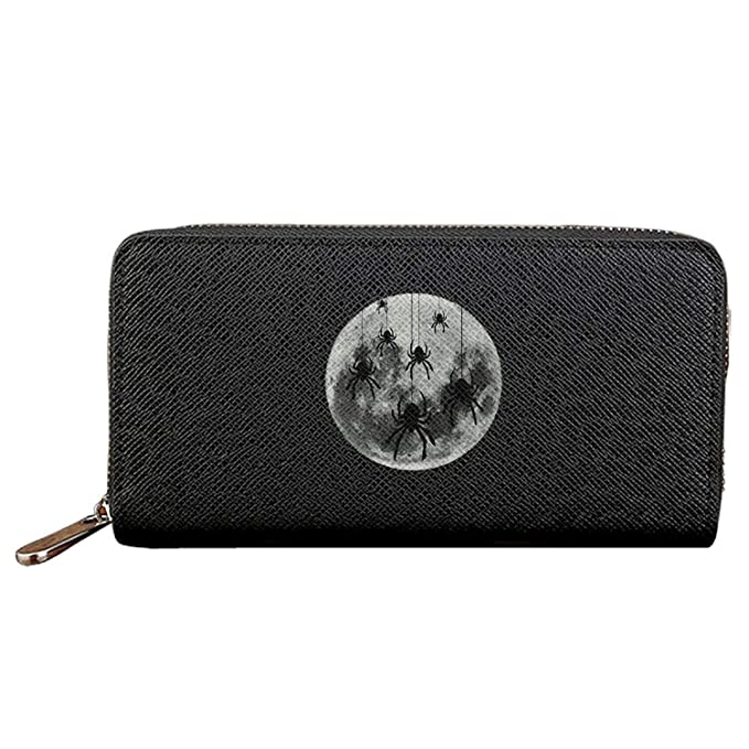 Long Fashion Purse Full Moon Lunar ider PU Wallets Cit Card Clutch Huge Storage Capacity: Amazon.es: Ropa y accesorios