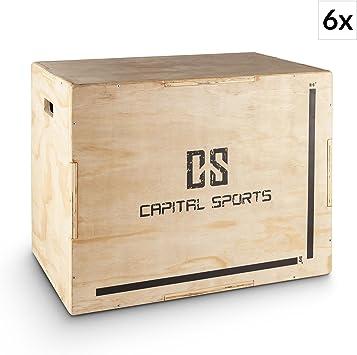 Capital Sports Shineater Set 6X Caja de Salto Pliométrica de 3 Alturas 20