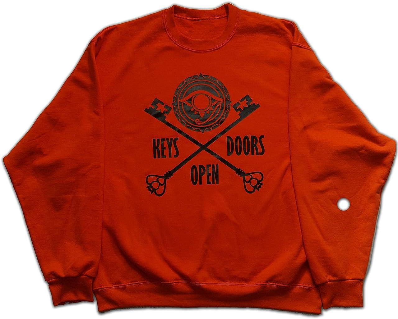 SNAP SKULL Mens Snapskull Sweatshirt Keys Open Doors
