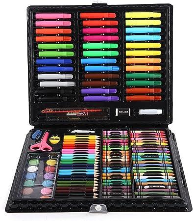 Conjuntos de Arte 120 piezas de lujoso conjunto de arte: pintura en un estuche compacto, caja