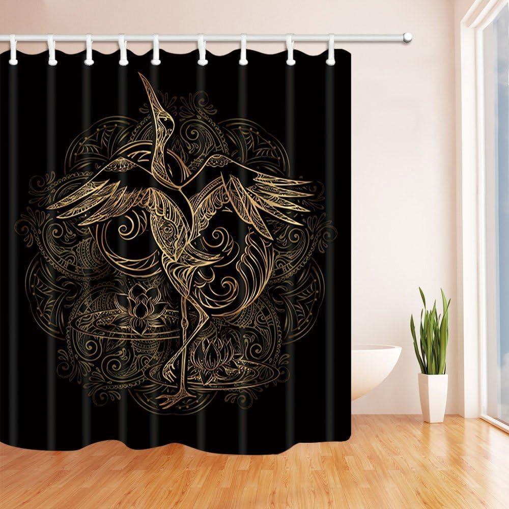 Nyngei Rideau de Douche en Tissu imperm/éable Motif Galets de Bain 183 x 183 cm