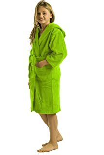 65aad17d76 Amazon.com  robesale Terry Cotton Bathrobe for Girls