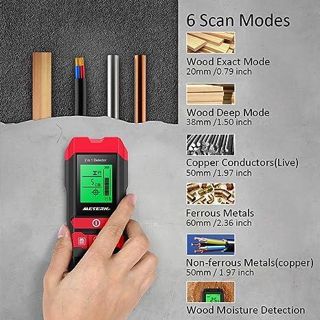 Amazon.com: Stud Finder Sensor Meterk Escáner de Pared – 4 ...