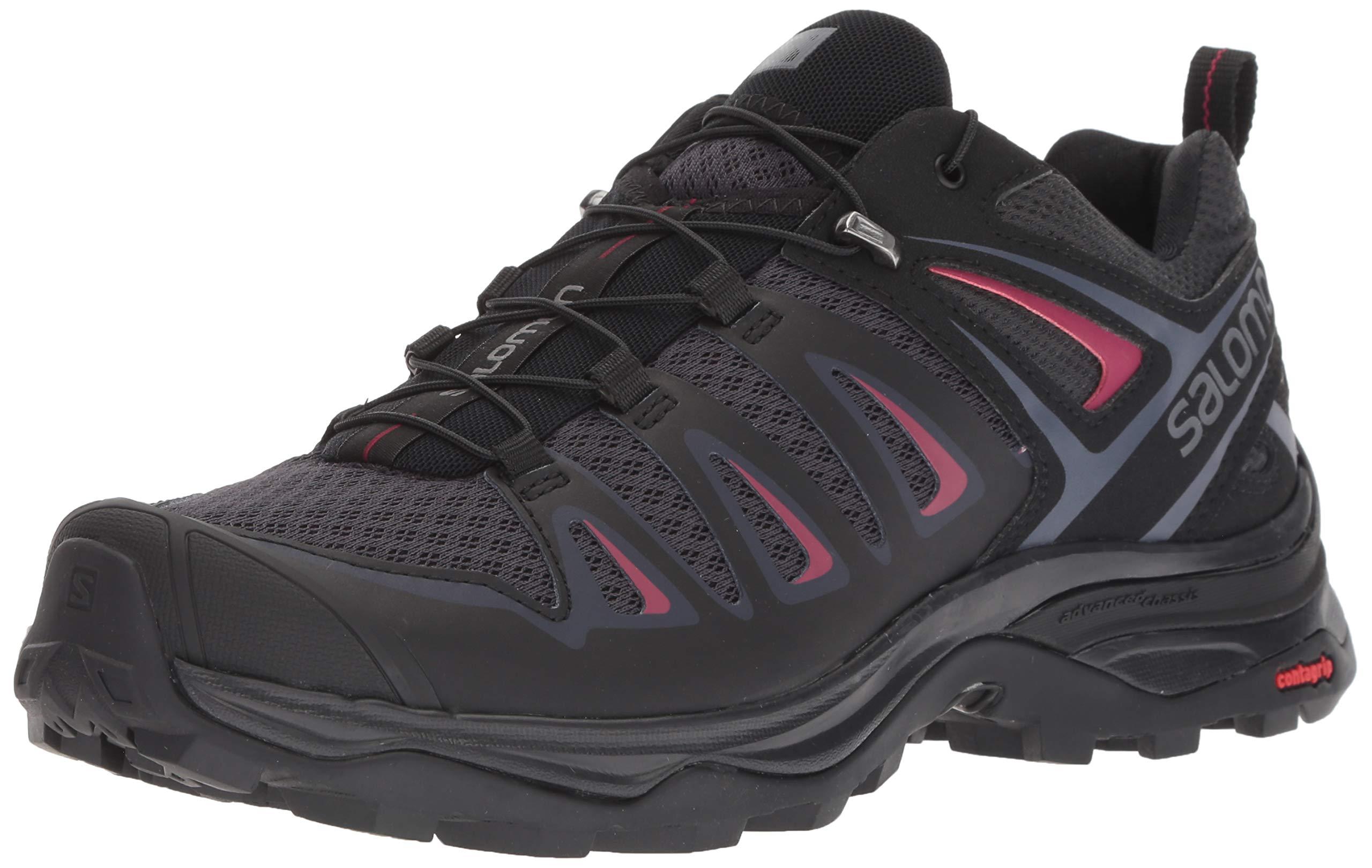 SALOMON Women's X Ultra 3 W Trail Running Shoe, Graphite/Black/Citronelle, 11 M US by SALOMON