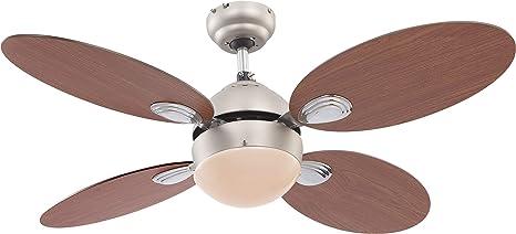 Raum Ventilator LED Deckenventilator mit Fernbedienung Licht Wind Lüfter Lampe