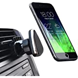 CRage Universal Magnetic Cell Phone Air Vent Mount Holder for Car, Bigger Strong Magnet Easy Clamp Design 360 Rotation, Fits Apple Android Smartphone (Black)