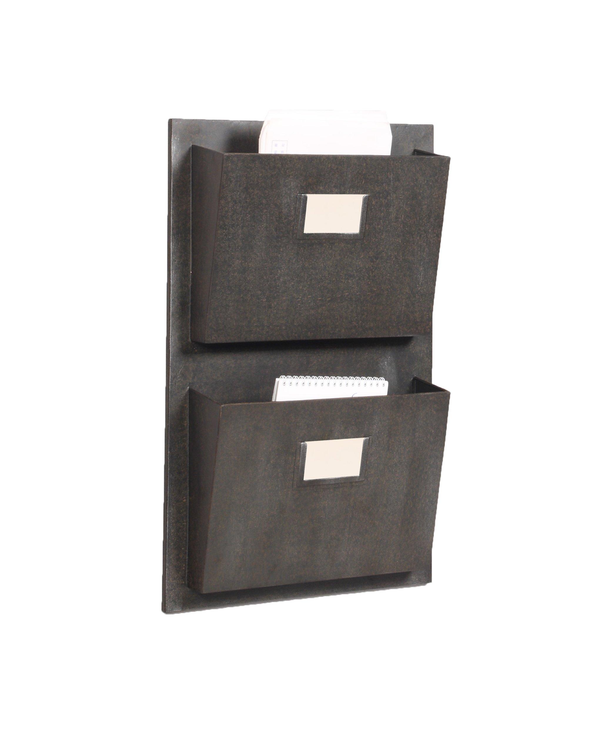 Linon 2 Slot Hanging Metal Mailbox