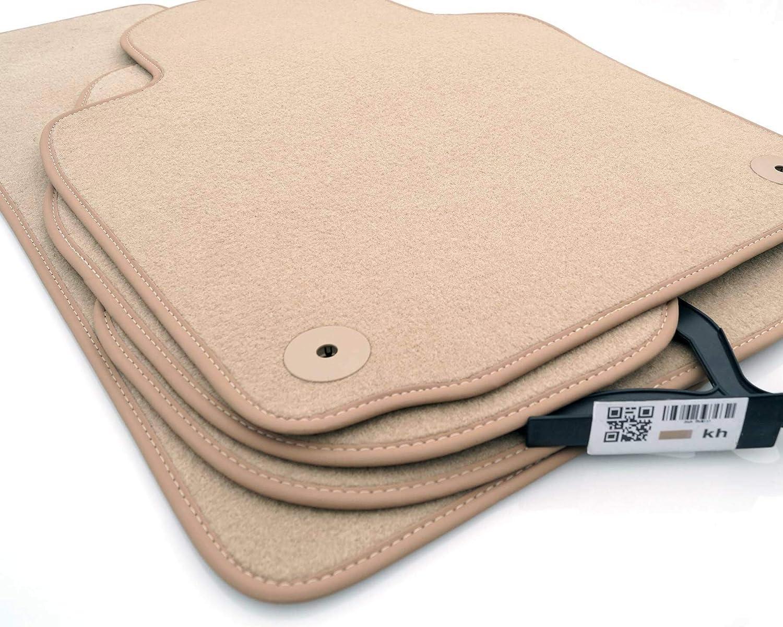 Fußmatten Passend Für Touareg 7p Velours Automatten Qualität Zubehör 4 Teilig Beige Auto