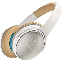 Bose QuietComfort 25 Acoustic Noise Cancelling Wired Headphones with Inline Mic for Apple Devices (White)