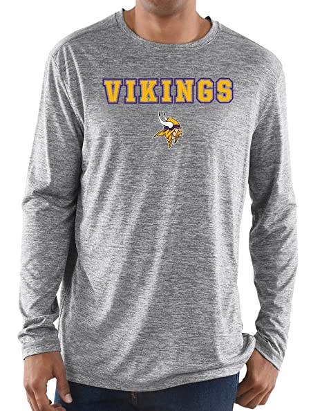 c3993cc28 Image Unavailable. Image not available for. Color  Majestic Minnesota  Vikings NFL Intensity Men s L S Performance Shirt