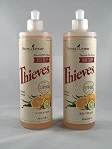 Thieves Oil Infused Dish Soap 2pk of 12fl.oz Bottles by Young Living Essential Oils