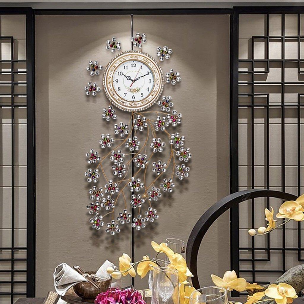 ALUP大きなミュートの壁時計の装飾ヨーロッパのスタイルレトロ豪華なクリエイティブ近代的なミニマリストアートベッドルームリビングルームの研究の壁時計 (色 : D) B07F24W72T D D