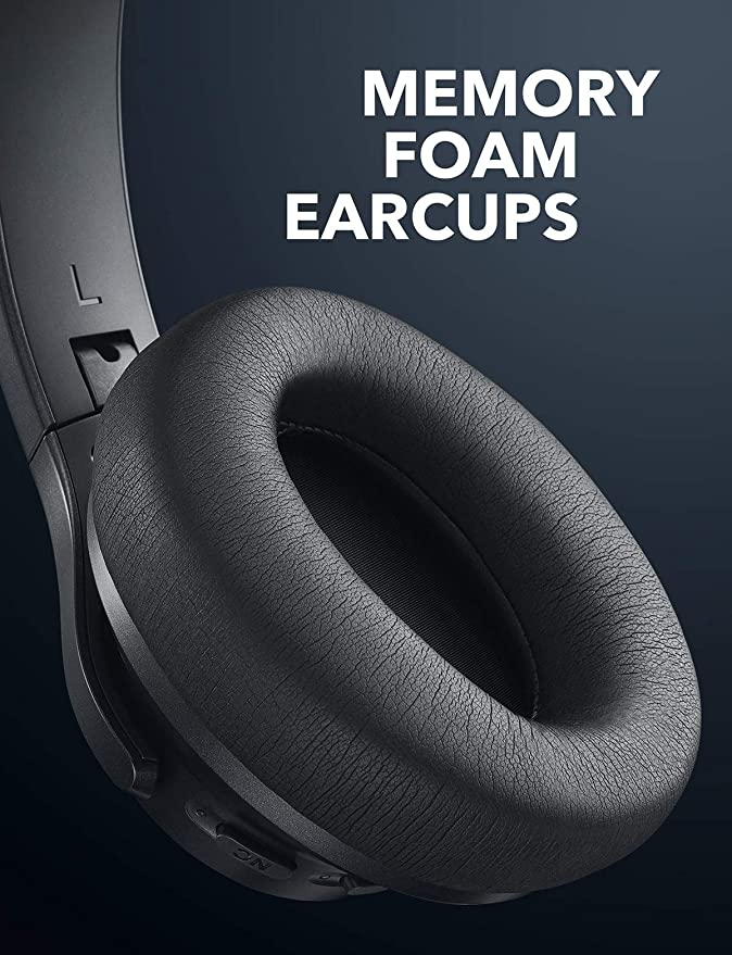 Anker Soundcore Vortex Wireless Over-Ear Headphones with 20-Hour Playtime, Bluetooth 4.1, Hi-Fi Stereo Sound, Soft Memory-Foam Earmuffs, w/Built-in Mic and ...