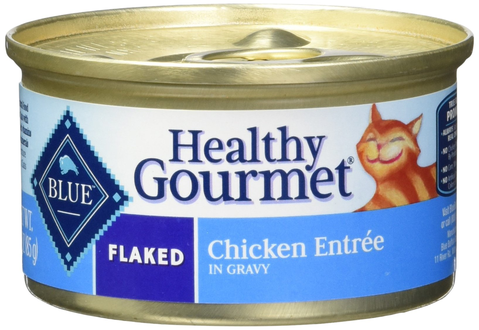 BLUE Healthy Gourmet Adult Flaked Chicken Wet Cat Food 3-oz (2 Packs of 24) by Blue Buffalo