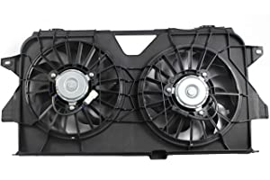 MYSMOT Dual Radiator and Condenser Fan Assembly For 2005-2007 Chrysler Town & Country/Dodge Caravan/Dodge Grand Caravan / 4677695AA