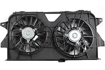 Amazon com: MYSMOT Dual Radiator and Condenser Fan Assembly