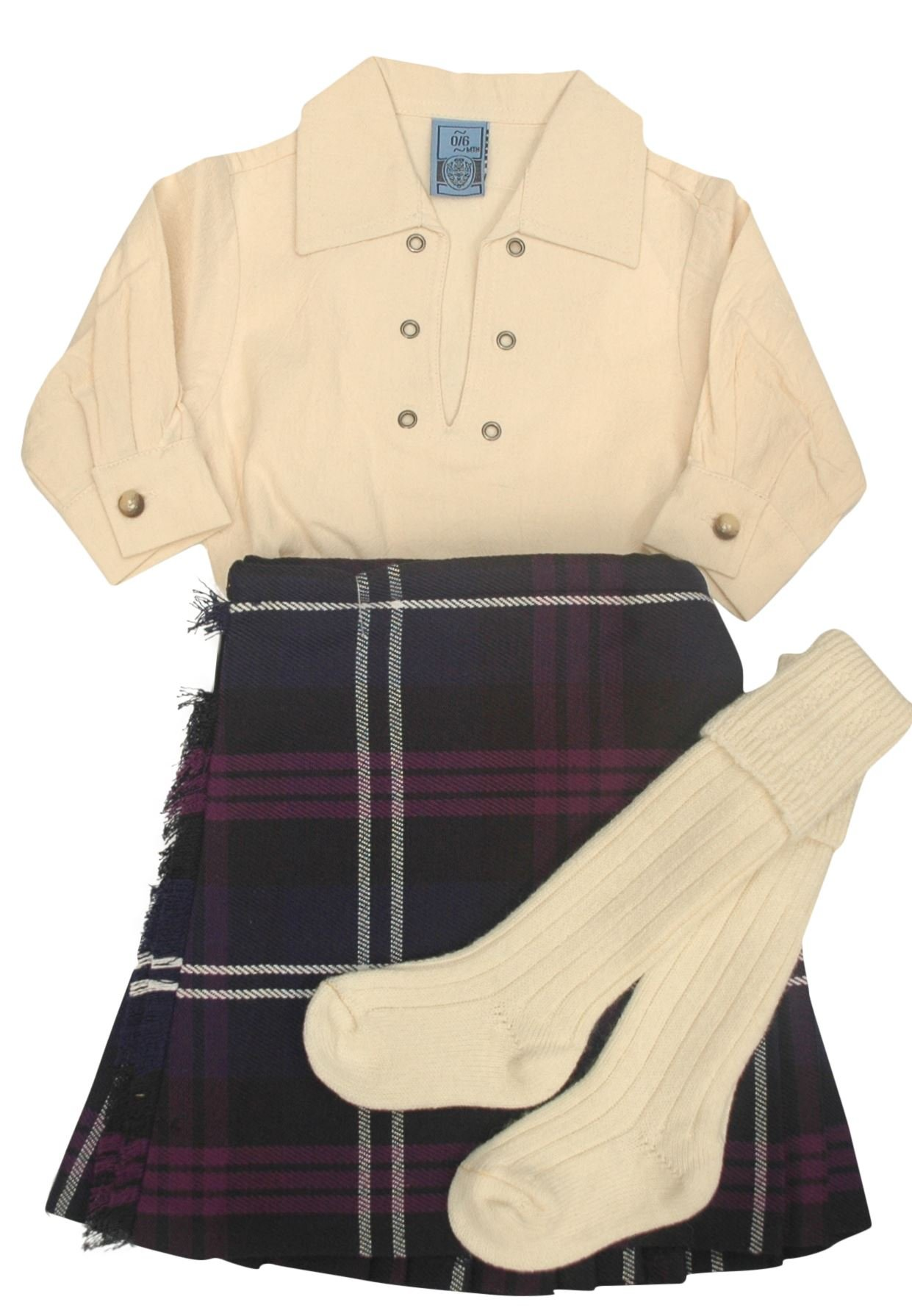 Boys Heritage of Scotland Tartan Kilt Outfit Set with Hose and Shirt (9-10 Years)