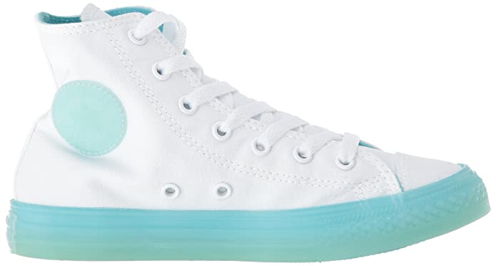 Converse CTAS Hi WhiteBleached Aqua, Baskets Hautes Mixte