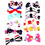 Segolike Pack of 12 Girls Ribbon Bow Hair Clips Barrette Hair Accessories