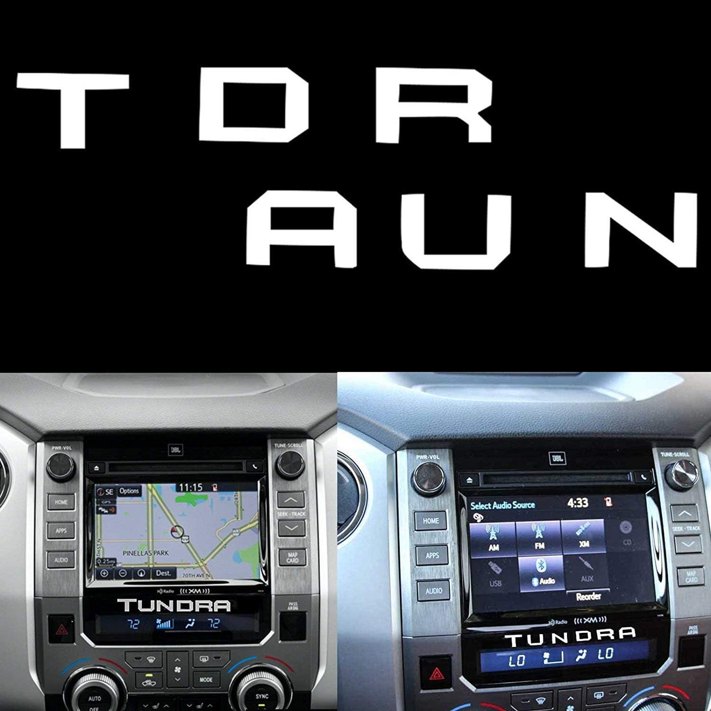 Xotic Tech Dashboard Radio Letter Insert Overlay Vinyl Decal Sticker for Toyota Tundra 2014-2019, White