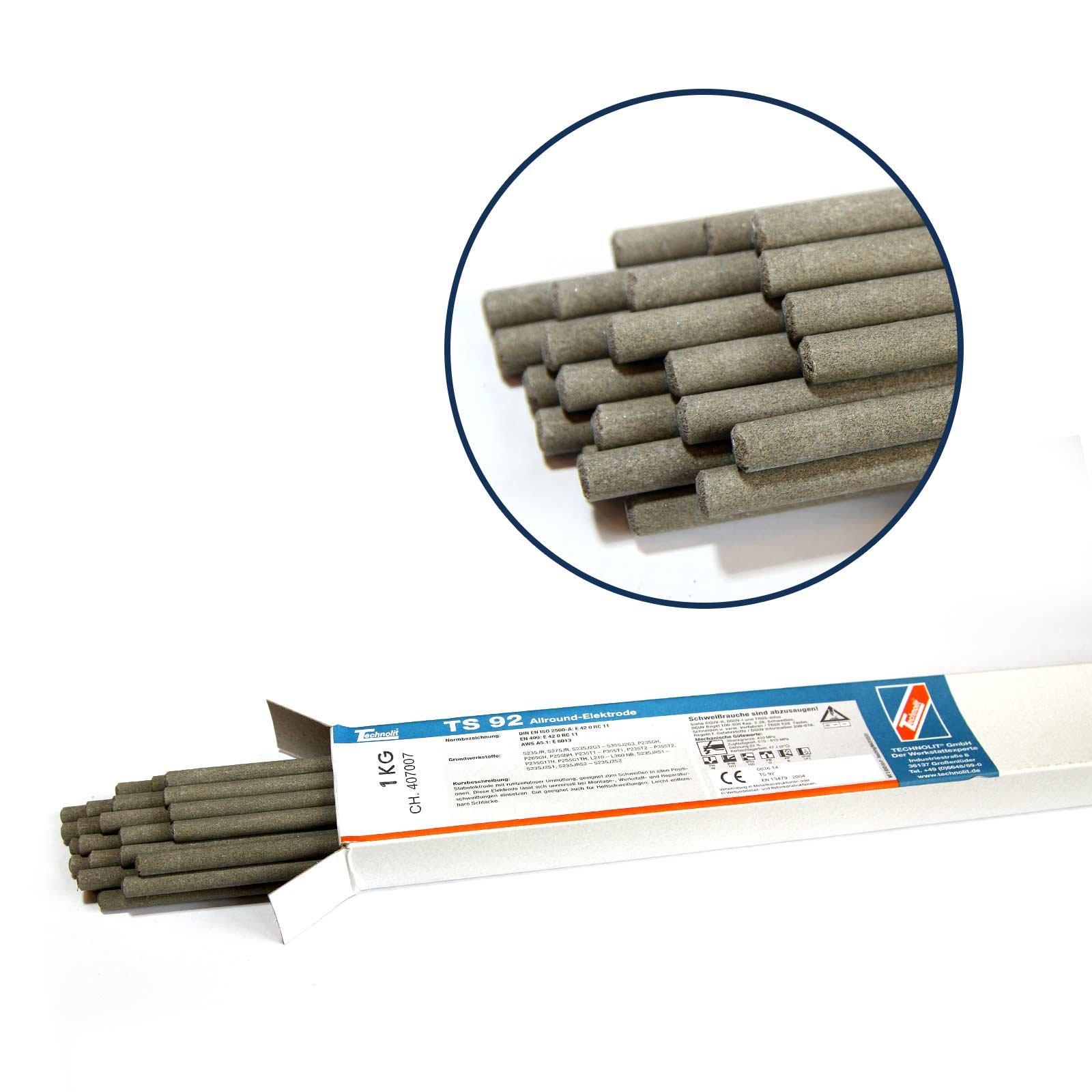 TECHNOLIT TS 46 Stabelektrode Edelstahl rostfreier Stahl V2A 1.4316 VPE 1 kg