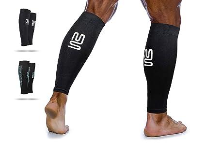 taglia 7 arte squisita Sconto del 60% Fasce compressione polpaccio per uomo e donna. Supporto a compressione per  periostite, crampi alla gamba, miglioramento della circolazione. Corsa, ...