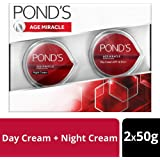 POND'S Age Miracle Cell ReGen Day cream spf15PA++, 50gm and Deep Action Night Cream