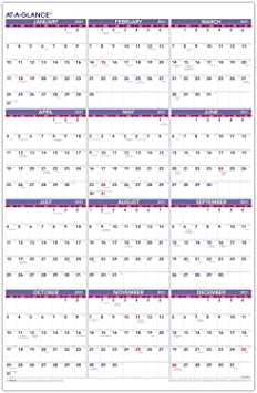 Year At A Glance Wall Calendar 2021 Background
