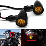 LED Motorcycle Amber Red Front Rear Brake Turn Signal Light Blinker Driving Tail Light For Motorbike Scooter Quad…