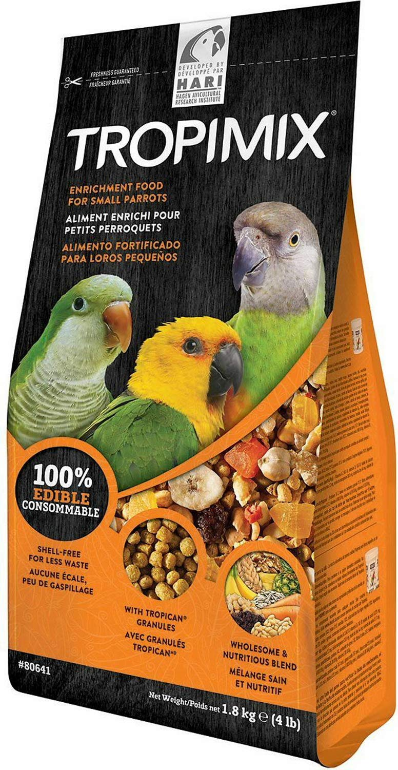 Hari Tropimix Enrichment Food for Small Parrots, 4 Pound, 2 Pack by Hari